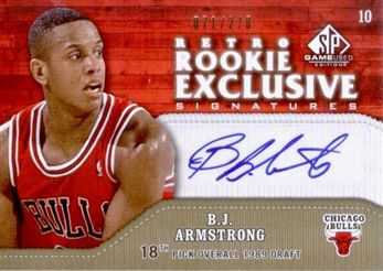 2009-10 SP Game Used Retro Rookie Exclusives B.J. Armstrong /278