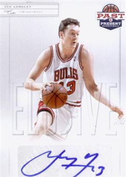 2011-12 Panini Past and Present Elusive Ink Autographs #LL Luc Longley