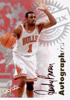 1997-98 SkyBox Premium Autographics #15 Randy Brown