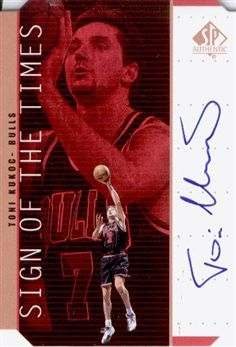 1998-99 SP Authentic Sign of the Times Bronze #TK Toni Kukoc