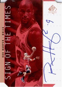 1998-99 SP Authentic Sign of the Times Bronze #RH Ron Harper