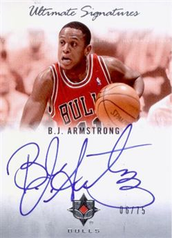 2007-08 Ultimate Collection Signatures #BA B.J. Armstrong /75