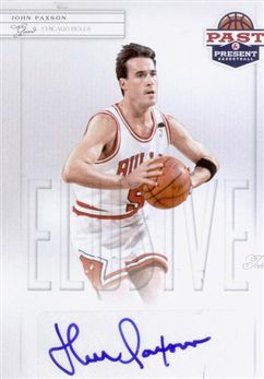 2011-12 Panini Past and Present Elusive Ink Autographs #JP John Paxson