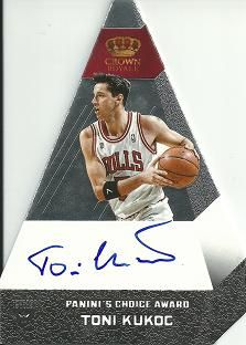 2012-13 Panini Preferred Silver #95 Toni Kukoc PC AU /25
