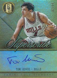 2012-13 Panini Gold Standard Superscribe Autographs #29 Toni Kukoc /99