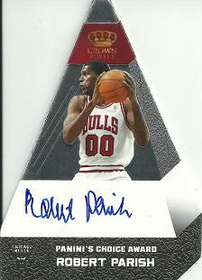 2012-13 Panini Preferred Silver #81 Robert Parish PC AU /25
