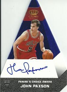 2012-13 Panini Preferred Blue #27 John Paxson PC AU /49