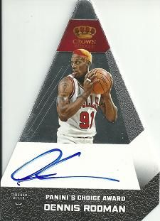 2012-13 Panini Preferred Silver #31 Dennis Rodman PC AU /15