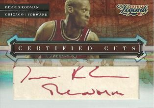 2008 Donruss Sports Legends Certified Cuts #7a Dennis Rodman/The Worm /40