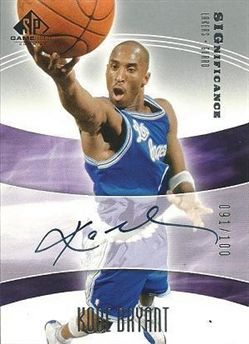 2004-05 SP Game Used SIGnificance #KB Kobe Bryant