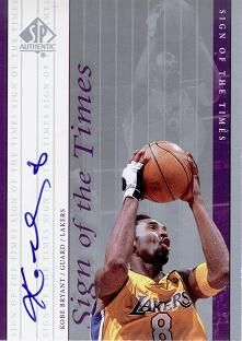 1999-00 SP Authentic Sign of the Times #KB Kobe Bryant AU
