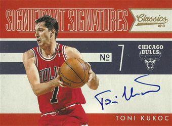 2010-11 Classics Significant Signatures #38 Toni Kukoc /49
