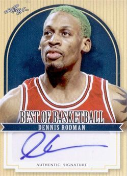 2011-12 Leaf Best of Basketball Autographs #DR1 Dennis Rodman