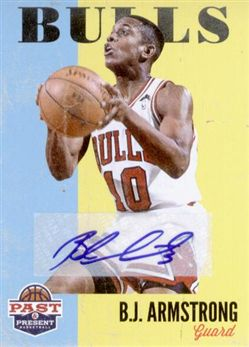 2011-12 Panini Past and Present Autographs #177 B.J. Armstrong