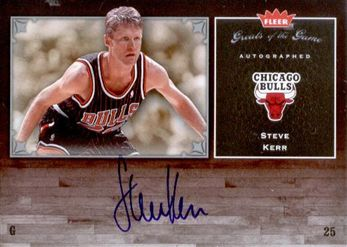 2005-06 Greats of the Game Autographs #GGSK Steve Kerr