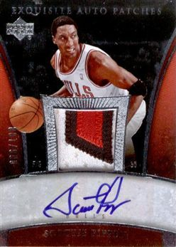 2005-06 Exquisite Collection Autographs Patches #APSP Scottie Pippen