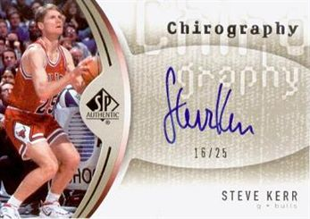 2006-07 SP Authentic Chirography Gold #SK Steve Kerr