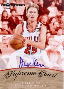 2007-08 Fleer Hot Prospects Supreme Court Autographs #SK Steve Kerr /25