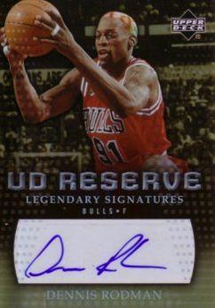 2006-07 UD Reserve Legendary Signatures #RO Dennis Rodman