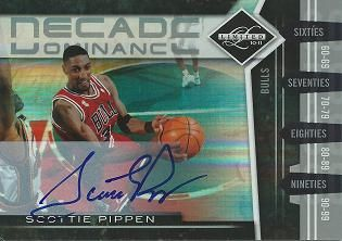 2010-11 Limited Decade Dominance Signatures #14 Scottie Pippen