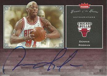 2005-06 Greats of the Game Autographs #GGRD Dennis Rodman /112*