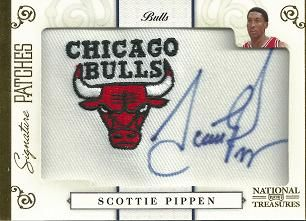 2009-10 Playoff National Treasures Signature Patches NBA Team #14 Scottie Pippen /53