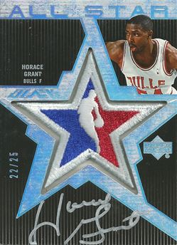 2007-08 UD Black All-Star Autographs #UHG Horace Grant /25
