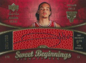 2007-08 Sweet Shot #93 Joakim Noah AU RC