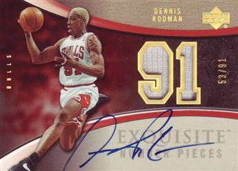 2005-06 Exquisite Collection Numbers #ENDR Dennis Rodman /91