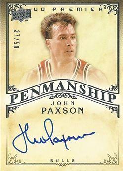 2008-09 Upper Deck Premier Penmanship Autographs #PENPA John Paxson