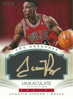 2013-14 Immaculate Collection The Greatest Autographs #20 Scottie Pippen