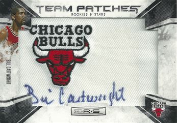 2010-11 Rookies and Stars Retired NBA Team Patches Signatures #1 Bill Cartwright /99