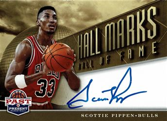2012-13 Panini Past and Present Hall Marks Autographs #5 Scottie Pippen
