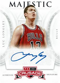 2012-13 Panini Crusade Majestic Signatures #83 Luc Longley