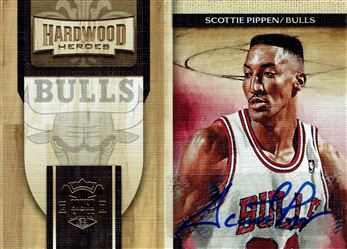 2009-10 Court Kings Hardwood Heroes Signatures #11 Scottie Pippen