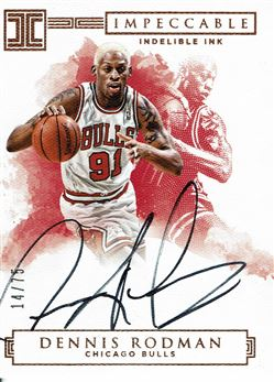 2016-17 Panini Impeccable Indelible Ink #40 Dennis Rodman