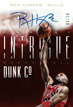 2013-14 Panini Intrigue Dunk Company Autographs Gold #26 Ron Harper