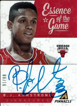 2013-14 Pinnacle Essence of the Game Autographs #17 B.J. Armstrong