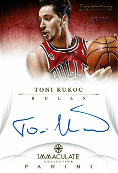 2012-13 Immaculate Collection Inscriptions #TK Toni Kukoc