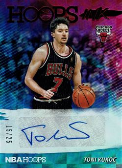 2019-20 Hoops Hoops Ink Red #49 Toni Kukoc
