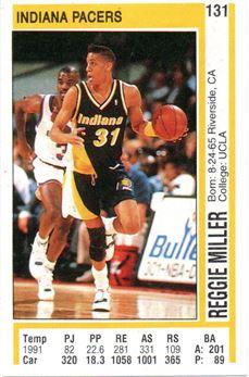 1991-92 Panini Stickers Spanish #131 Reggie Miller