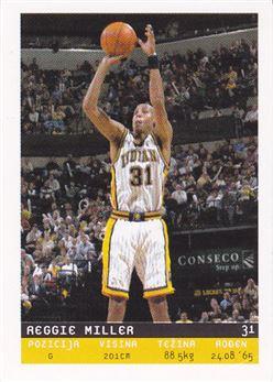 2002-03 Total Basketball Serbian Stickers #49 Reggie Miller