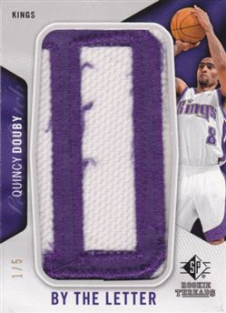 2008-09 SP Rookie Threads By the Letter #BLQD Quincy Douby/5 D