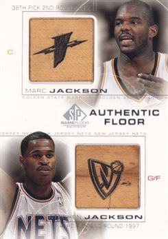 2000-01 SP Game Floor Authentic Floor Combos #C2 Marc Jackson/Stephen Jackson