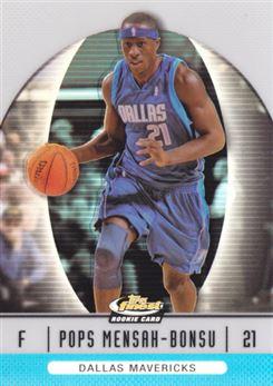 2006-07 Finest Refractors Blue #83 Pops Mensah-Bonsu