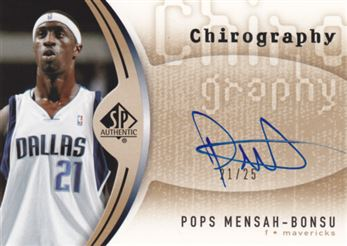 2006-07 SP Authentic Chirography Gold #PM Pops Mensah-Bonsu
