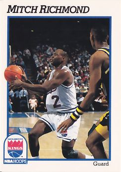 1991-92 Hoops #429 Mitch Richmond