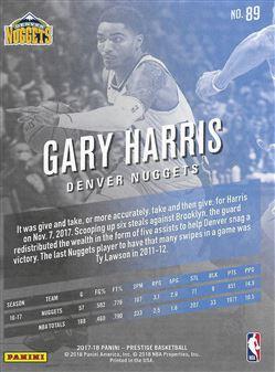 2017-18 Prestige #89 Gary Harris