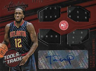 2016-17 Absolute Memorabilia Tools of the Trade Rookie Autograph Materials #26 Taurean Prince