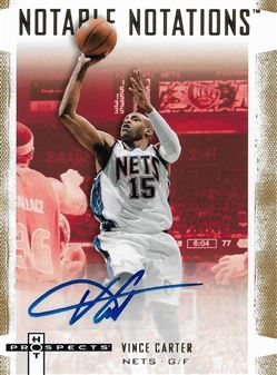 2007-08 Fleer Hot Prospects Notable Notations #VC Vince Carter